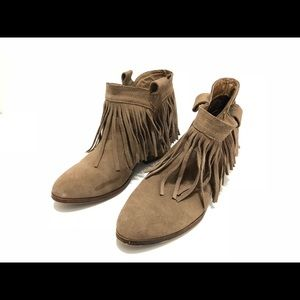 Restricted size 6.5 brown tassel booties
